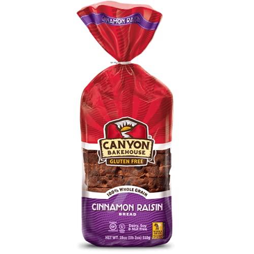Canyon Bakehouse Gluten Free Bread, Cinnamon Raisin Bread, 18 Ounce (Pack of 6)