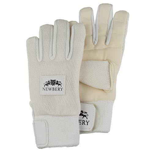 Newbery Cricket Chamois Inner Gloves, White, Small Senior
