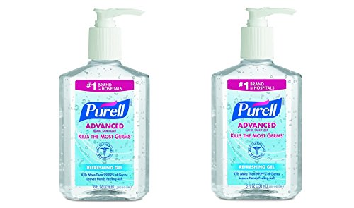 PURELL 965212CT Advanced Instant Hand Sanitizer, 8oz Pump Bottle (2 X Pack of 12)