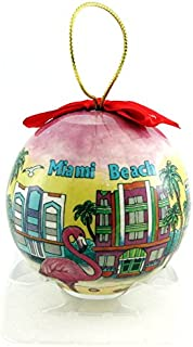 Miami Beach Skyline Christmas Ball Ornament