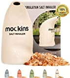 mockins Easy to Use Ceramic Salt Inhaler and Includes Pure Himalayan Pink Salt - White Color | Asthma and Allergy Relief