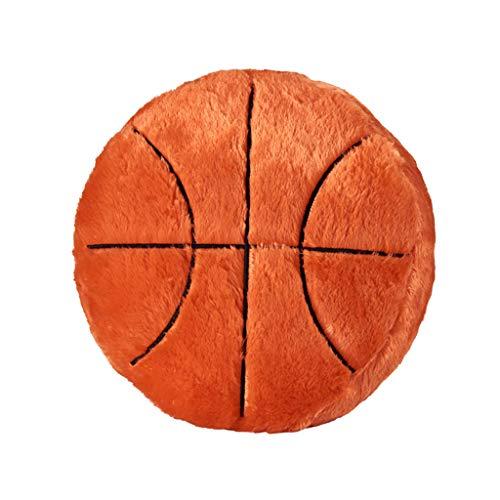 Fanxing Fanxing Ball cushion waist pillow sofa chair decoration football baseball basketball football creative plush toy gift (S, Orange)