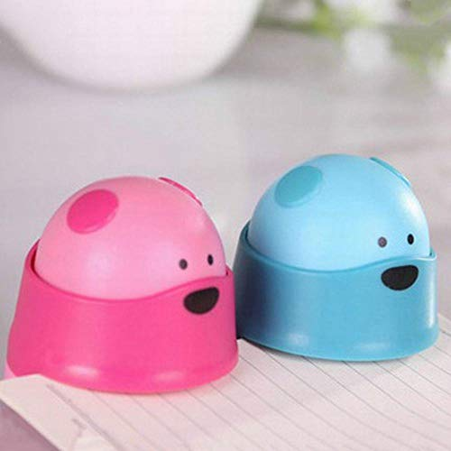 Heng Creative Mini Bear Style Student Office Nietmachine Finisher Zonder nietjes Nietmachine Milieuvriendelijke, willekeurige kleur