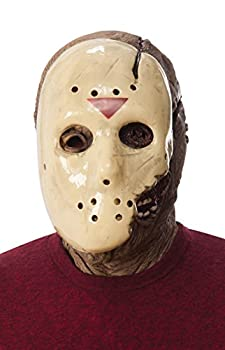 Rubie s mens Friday the 13th Part 7 New Blood Jason Voorhees Deluxe Overhead Costume Mask Gray One Size US