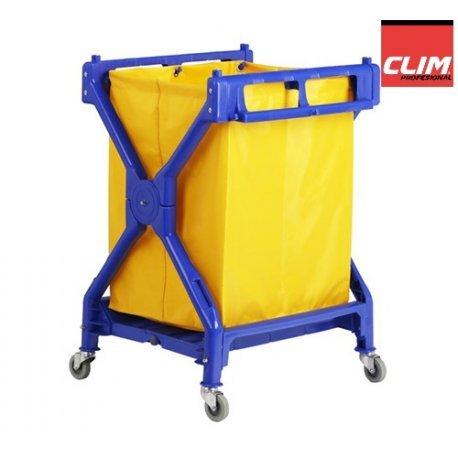 Clim Profesional Carro de lavandería Plegable Carro Plegable para Uso en lavandería, hospitales, hoteles, hostales o residencias. con Lona Resistente de 200 litros