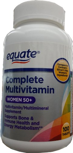 Equate Complete Multivitamin Women 50+, 100 Tablets