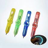 Kuyoly 1 PC Multifunzione LED Flash Pen Punta delle Dita Spinner Allevia i Giochi di Stress Mano Spinner Penna Cancelleria per Ufficio Casuale,Stile Casuale