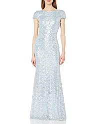 Women's Classic Cowl Back Sequin Gown