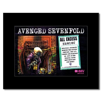 AVENGED SEVENFOLD - All Excess Matted Mini Poster - 21x13.5cm
