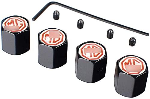 Neumático Automóvil Válvula Tapones Tapas para MG ZS GS 3 5 6 7 350, Polvo con Logo Antirrobo Decoración Accesorios