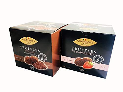 ベルギー直輸入トリュフチョコレート アソート2箱セット ストロベリー&ココア風味 200g×2