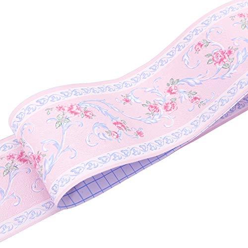 Uoisaiko - Bordes de papel pintado de PVC, autoadhesivos, borde de pared para baño, cintura, azulejos, bordes, diseño...