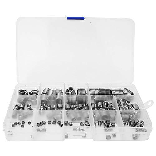 DaMohony Herramienta de reparación de roscas de acero inoxidable con caja M3-M12 (120 unidades)