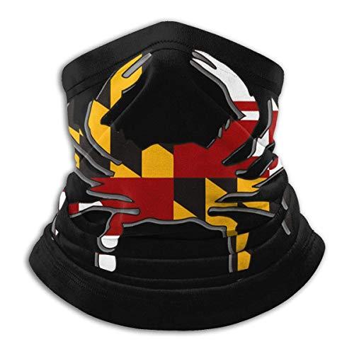 Alive Inc Bandane con visiera per cappelli, scaldacollo, scaldacollo e sciarpe in microfibra con bandiera del Granchio