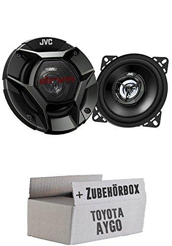 JVC CS-DR420-10cm 2-Wege Koax-Lautsprecher - Einbauset für Toyota Aygo - JUST SOUND best choice for caraudio