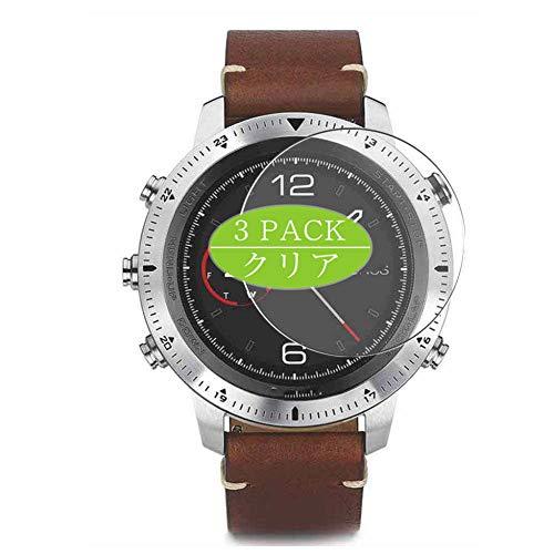 Vaxson 3 Stück Schutzfolie, kompatibel mit Garmin Fenix Chronos smartwatch Smart Watch, Displayschutzfolie Bildschirmschutz Blasenfreies [nicht Panzerglas]