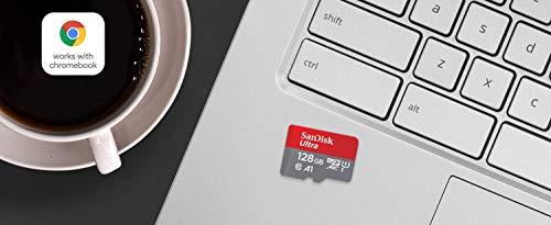 SanDisk Ultra 128GB microSDXC UHS-I-Karte für Chromebook mit SD-Adapter und bis zu 120MB/Sek.