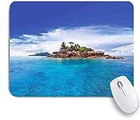 ECOMAOMI 可愛いマウスパッド セイシェルの島ココナッツジャーニージャングルロッキーコースト波面 滑り止めゴムバッキングマウスパッドノートブックコンピュータマウスマット