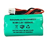 Unitech Ni-MH AA1800mAh Solar Light 3.6V AA NIMH 1800 MAH 3.6v 1800mAh Ni-MH Battery Pack Replacement for Emergency/Exit Light 73904 Craftsman LED Flashlight