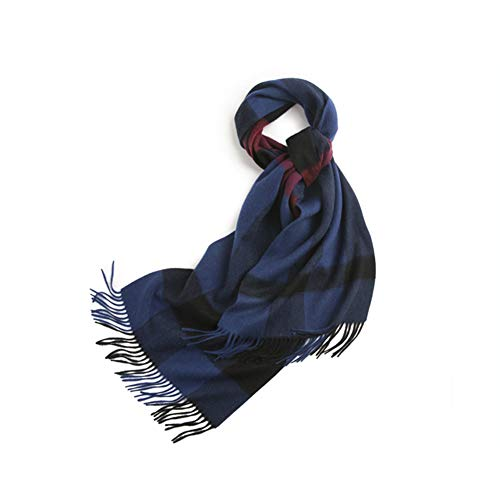 LLUVIAXHAN Damen Schal Mode Lange Plaid Schals Wraps Big Grid-Winter-Warmer Lattice Große Schale Geschenke,Blau