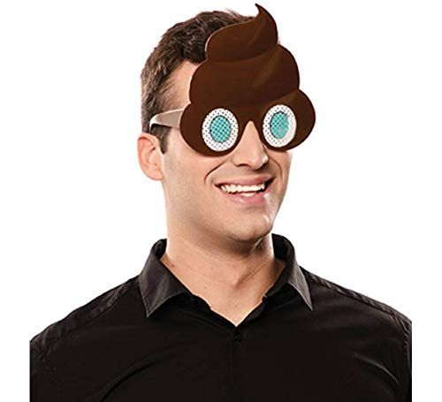 EUROCARNAVALES Gafas de Emoticono Caca
