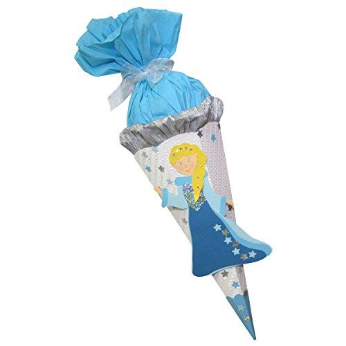 Schultüte Bastelset Sternenprinzessin - Zuckertüte - aus 3D Wellpappe, 68cm hoch