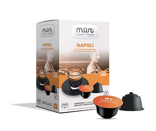 Must Espresso Italiano 96 Capsule Compatibili Dolce Gusto Napoli - 6 confezioni da 16 capsule