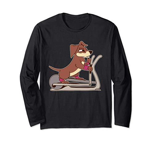 Ellipsentrainer Gymnastik Hundeliebhaber Langarmshirt