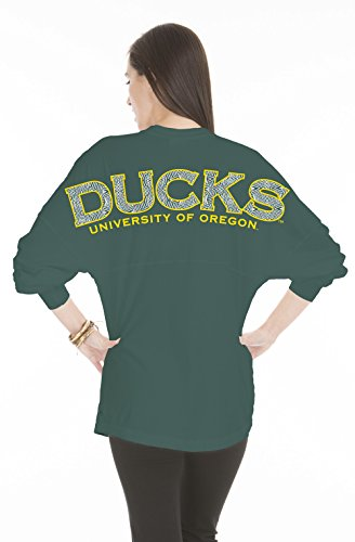 NCAA Oregon Ducks Women's Jade Long Sleeve Jersey, X-Small, Forest Green