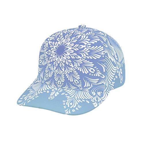 O2ECH-8 teenagers lichthemel blauw mandala muts - mode sneldrogend plain hoed