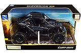 New-Ray 58193B New-Ray-58193B-1:18 Scale Toy CAN-AM Maverick X3 X Turbo Black