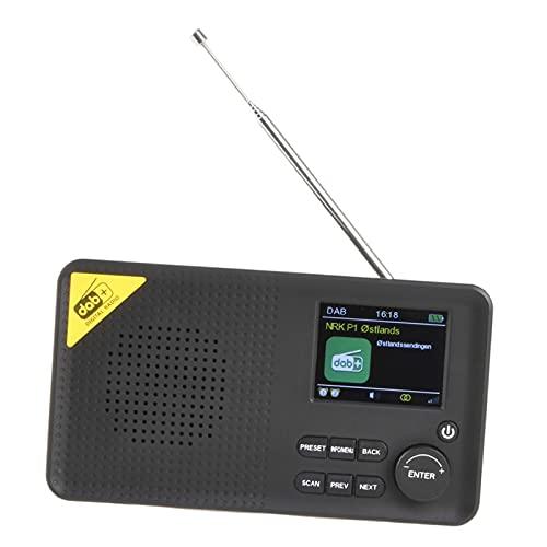 Radio Dab portátil 40 preajustes estéreo portátil con batería Radio Digital Doble Alarma batería Recargable Salida de Auriculares Negro