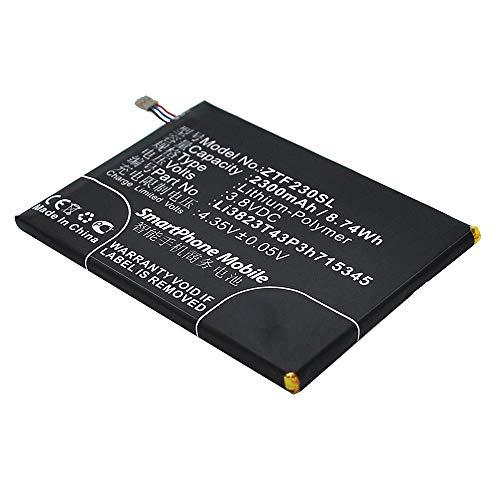 subtel® Qualitäts Akku kompatibel mit ZTE MF910 / 920 / Grand S Flex, 2300mAh Ersatzakku Batterie