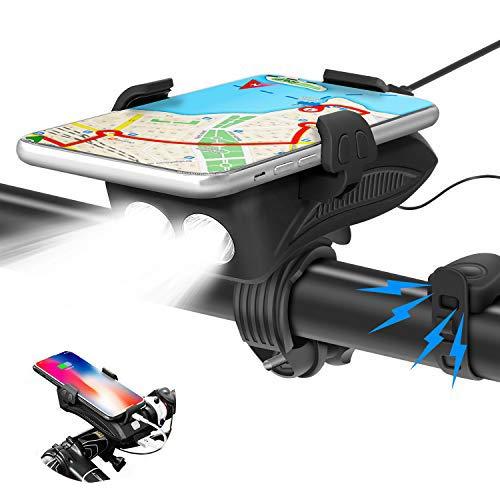 FEYG Porta Cellulare Bici, Porta Telefono Bici & Moto Supporto Universale Telefono Bici Ruotabile a 360°Accessori Bici Porta iPhone,per dispositivi da 3.5-6.5 Pollici