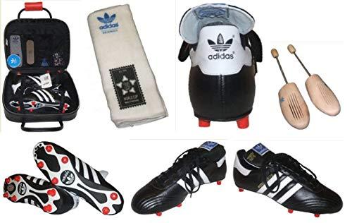 adidas–Botas de fútbol Copa del Mundo 78, Color Negro/Blanco, tamaño 8,5 UK