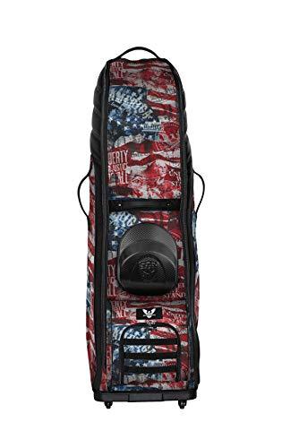 Subtle Patriot Golftasche für Herren mit Rollen, wasserabweisend, leicht und zusammenklappbar, (Patriot)