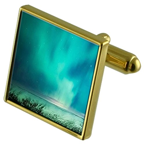 Select Gifts Aurora Borealis Stars Gold-tone de manchette en sachet