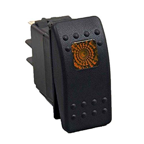 Guangcailun Interruptor Impermeable LED del Coche del Carro del Barco, más rockero LED de luz Rocker Interruptor de Palanca de 3 Pines Interruptores 12V 24V Power Plus de Coches