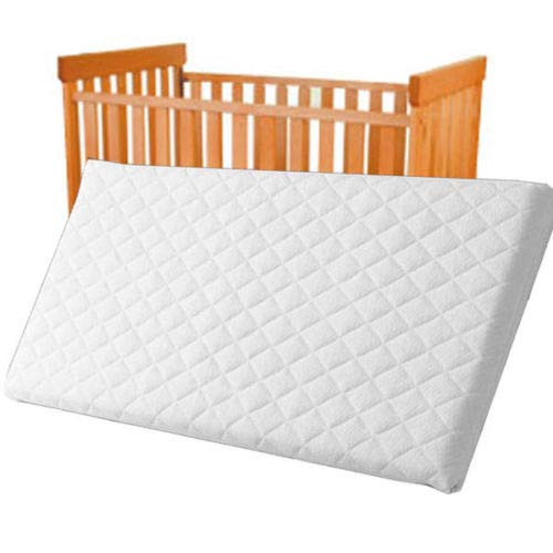 Baby and Toddler Breathable Cot Bed Mattress | 100% Breathable Water Resistant, Washable, Hypoallergenic Size : 71 X 35 X 4 cm
