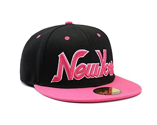 NEW YORK Empire Pink & Black Snapback Baseball Cap by Snapbacks