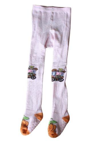 Weri Spezials ABS kruipanty stopper sokken anti-slip panty voor meisjes met de aspruik in roze