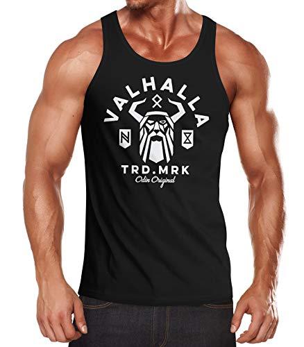 Neverless® Herren Tank-Top Valhalla Odin Runen Wikinger Muskelshirt Muscle Shirt schwarz XL