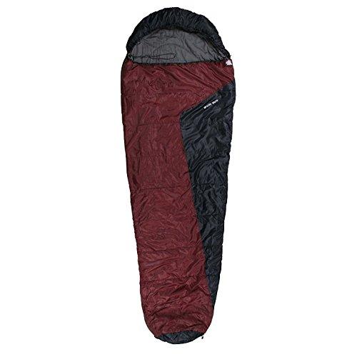 10T Schlafsack Arctic Sun 230x85 Rot -16° 1700g leicht Mumienschlafsack wasserabweisend waschbar
