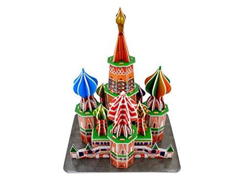 PROW Fai da te Carta Puzzle Kit, Alta qualità Processo di taglio laser Architettura 3D Carta Modello Puzzle Adatto per bambini sopra i 6 anni (Cattedrale di San Basilio)