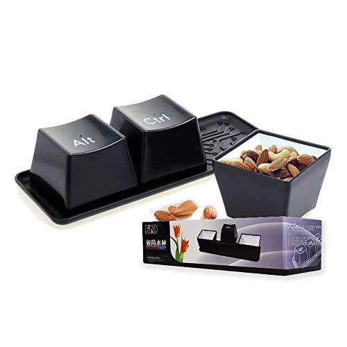 Mikamax Taza del Teclado - Vaso y Forma de Ctrl Alt del Teclado - Teclado Negro - Tazas los Botones del Teclado de Ctrl, Alt y del - Tazas de Cocina - Cuenco del Saus