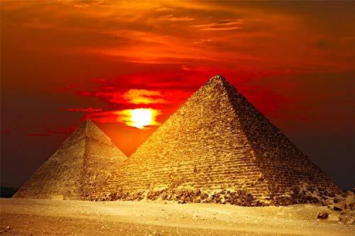 3D Diy Pintura Digital Por Números Pirámides Egipto Moderno Cuadro Sobre Lienzo Para Pared Regalo Único De Navidad Decoración Del Hogar 30 * 40Cm Sin Marco