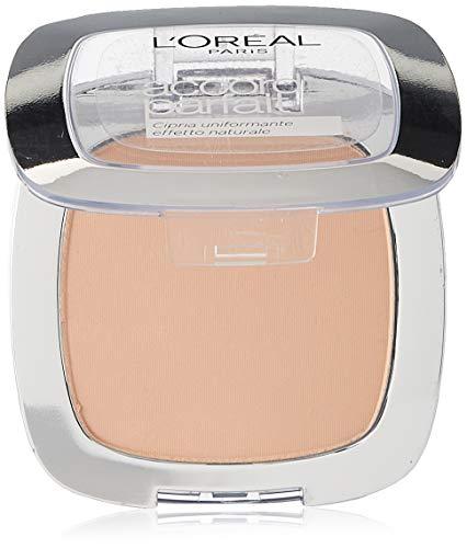 L Oréal Paris MakeUp Cipria Uniformante Accord Parfait, Cipria in Polvere Uniformante e Fissante, 2R Vanille Rosé, Confezione da 1