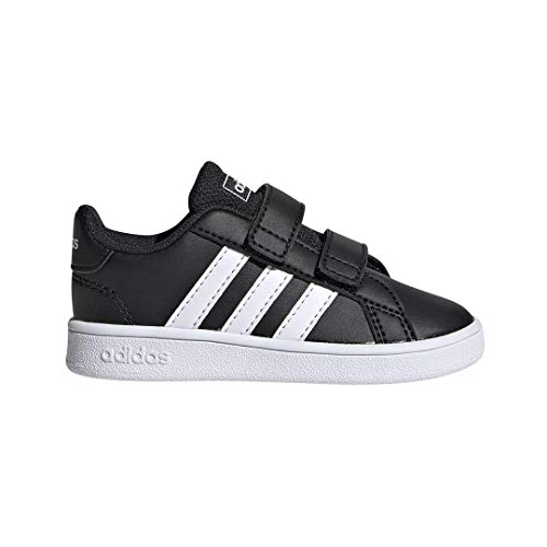 adidas Baby Grand Court Sneaker Black White, 6K M US Toddler