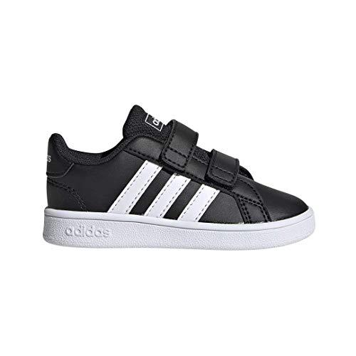 adidas Baby Grand Court Sneaker Black White, 6K M US Toddler