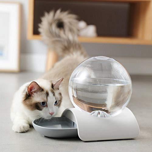 Niyregiy-Haustier Wasserspender 2.8L automatische Wasserspender Haustier Katze Hund Wasserspender große Schüssel Getränk Katze Getränk Wasser ohne Strom Grau